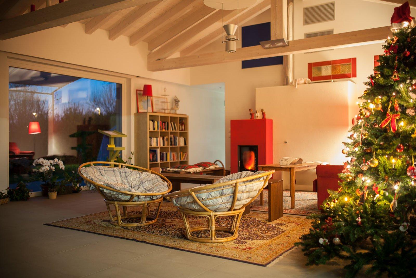 Il salotto comune, a Natale